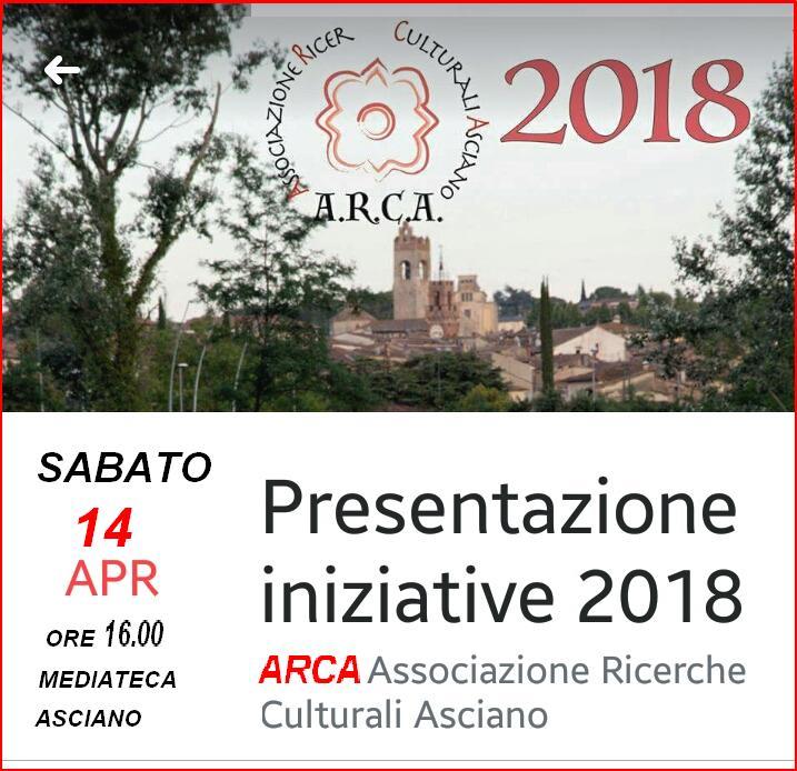 Presentazione attività 2018 – Sabato 14 Aprile – Mediateca Monicelli