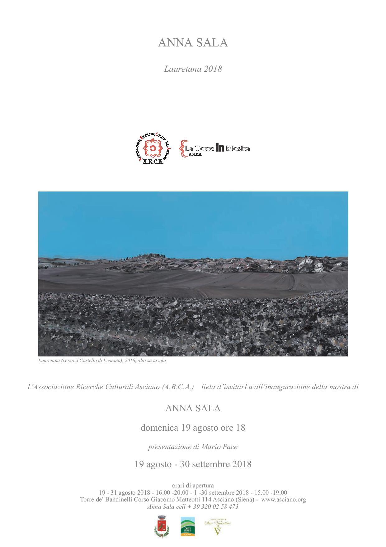 Lauretana 2018 – a partire da domenica 19 agosto –  Torre de' Bandinelli – Asciano (SI)