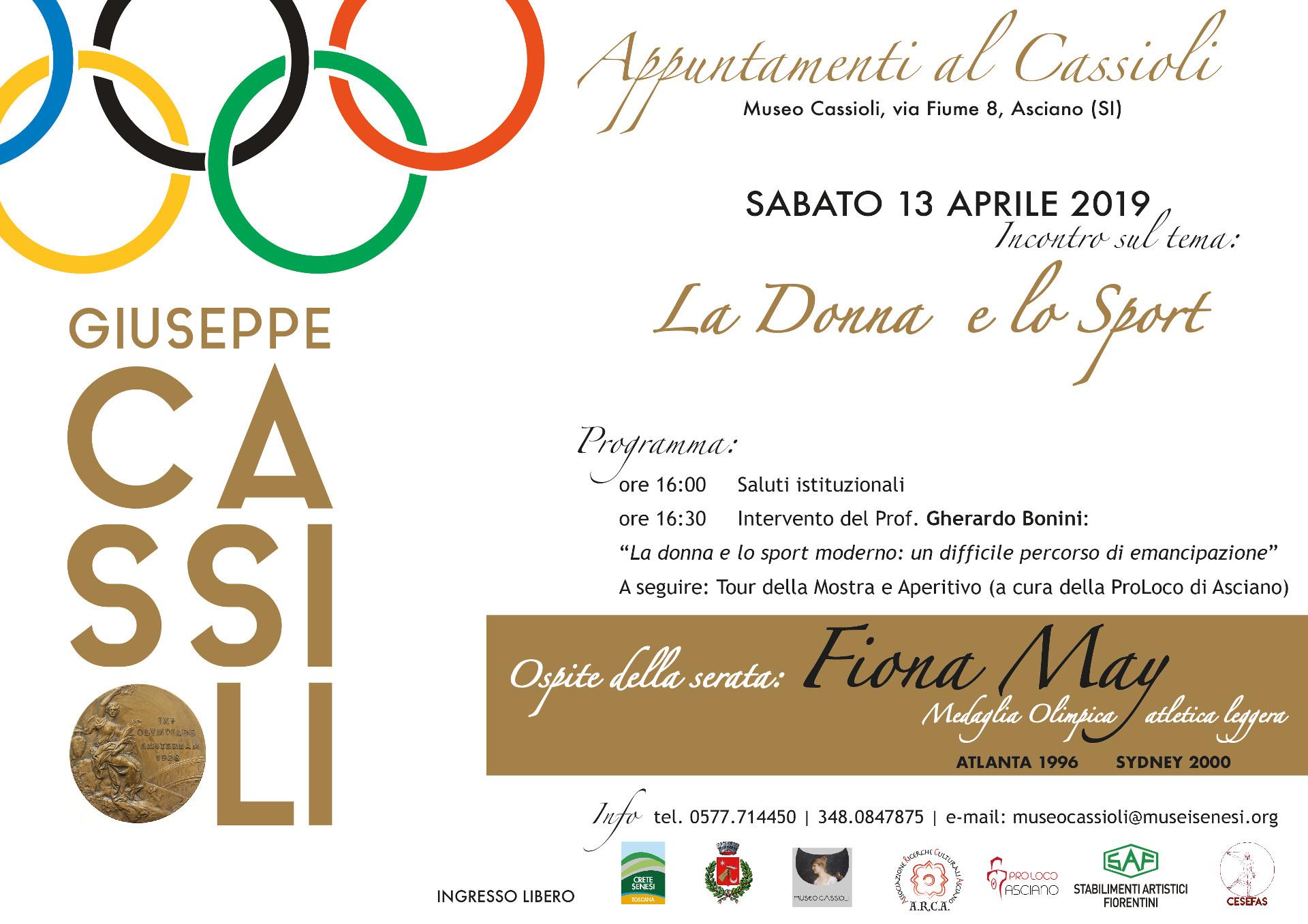La Donna e lo Sport – sabato 13 aprile – ore 16:00 – Museo Cassioli – Asciano (SI)