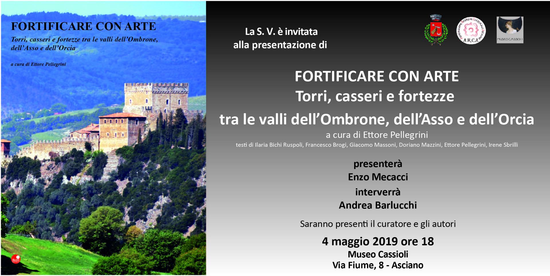 Fortificare con Arte – sabato 4 maggio – ore 18:00 – Museo Cassioli – Asciano (SI)