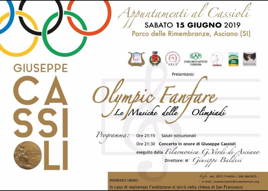Olympic Fanfare – sabato 15 giugno – ore 21:15 – parco della Rimembranza